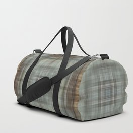 Modern Abstract Plaid Duffle Bag