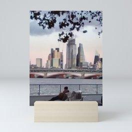 River thames, London. Mini Art Print