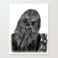 chewbacca Canvas Prints featuring Chewbacca by axemangraphics