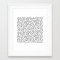 the strokes Framed Art Prints featuring Strokes by elena + stephann