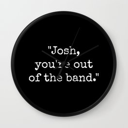 Out of the Band Wall Clock