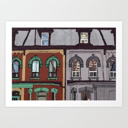 Toronto:Cabbagetown Art Print