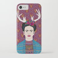 frida iPhone & iPod Cases featuring DEER FRIDA by Bianca Green