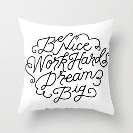 The Three Commandments. Throw Pillow