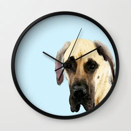 Great Dane Art - Dog Painting by Sharon Cummings Wall Clock