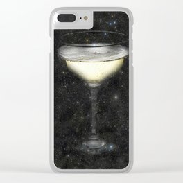 Champagne Nebula Clear iPhone Case