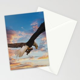 Eagle on Dramatic Sky Stationery Cards