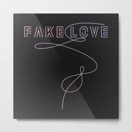 BTS - Fake Love Metal Print