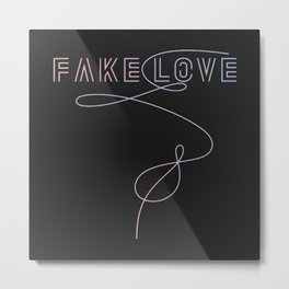 BTS - Fake Love Metal Print