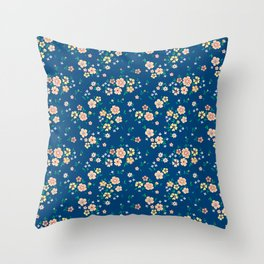 "Cute Floral pattern of small light flowers. ""Ditsy print"". Throw Pillow"