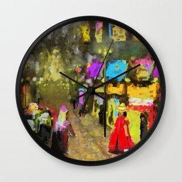 Street Night Lights Wall Clock