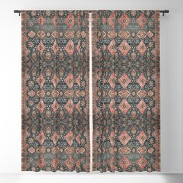 N255 - Vintage Oriental Old Traditional Boho Moroccan Fabric Style Blackout Curtain