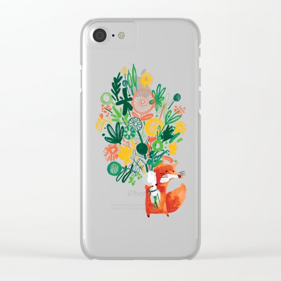 Flower Delivery Clear iPhone Case