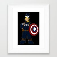 simpson Framed Art Prints featuring Captain Simpson by Betmac