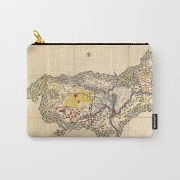 Map of Yamashiro province (with Kyoto), 19th century Japan Carry-All Pouch
