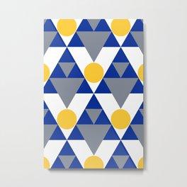 Modern Winter Pattern Metal Print