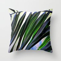 palm Throw Pillows featuring palm by  Agostino Lo Coco