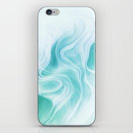 Marble sandstone - ice iPhone Skin
