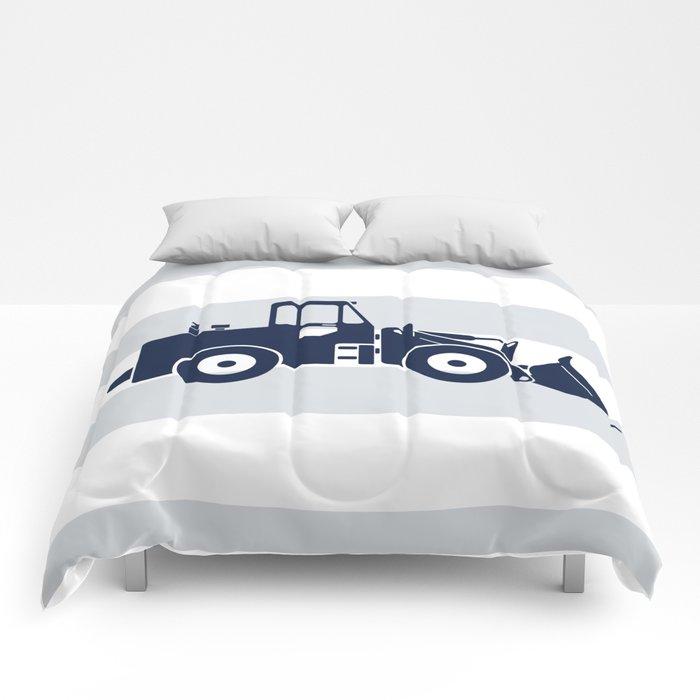 Navy Bulldozer Comforters