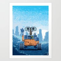 wall e Art Prints featuring Wall-e by LAckas
