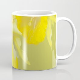 Sign of Spring - Yellow Narcissus on Spring Green Background #decor #society6 #buyart Coffee Mug