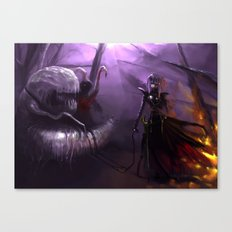 Out feeding the pet Canvas Print