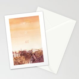 Glimpses of Art poster design (with text) Stationery Cards