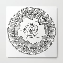 Rose Mandala Metal Print