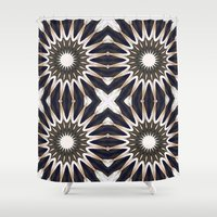 chocolate Shower Curtains featuring Chocolate Flower Mandala Pattern by 2sweet4words Designs