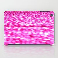 glitter iPad Cases featuring Fuchsia Pink Glitter Sparkle by WhimsyRomance&Fun