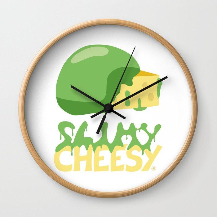 Slimy cheesy Wall Clock