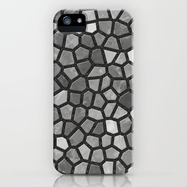 Faux Stone Mosaic in Darker Grays iPhone Case