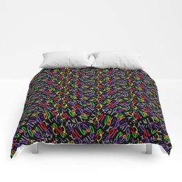 Colored Only in a Square World Comforters