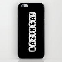 bazinga iPhone & iPod Skins featuring BAZINGA! by StrangerDays