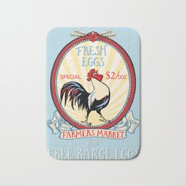 Roosters crow Bath Mat