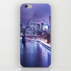 New York City Night Lights : Periwinkle Blue iPhone & iPod Skin