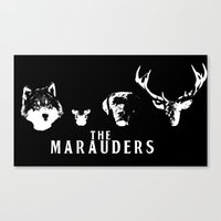 marauders Canvas Prints featuring The Marauders by pirateprincess