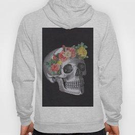 Skull with Flower Crown Hoody