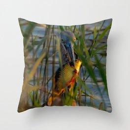 BLUE HERON'S FRIDAY SUNDOWN FISH FEAST Throw Pillow
