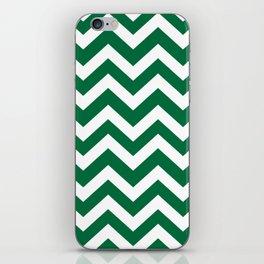 Cadmium green - green color -  Zigzag Chevron Pattern iPhone Skin
