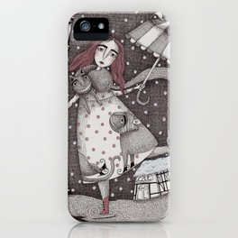 Alice's First Snow iPhone Case