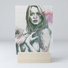 Gloria: Purple Mini Art Print