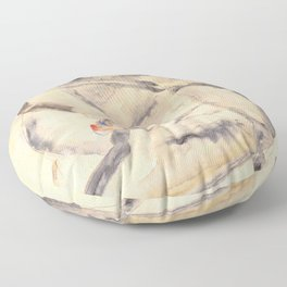 """Egon Schiele """"I Will Gladly Endure for Art and My Loved Ones"""" Floor Pillow"""