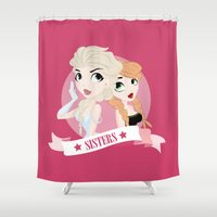 sisters Shower Curtains featuring Sisters by swisscreation