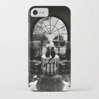 skull iPhone & iPod Cases featuring Room Skull B&W by Ali GULEC
