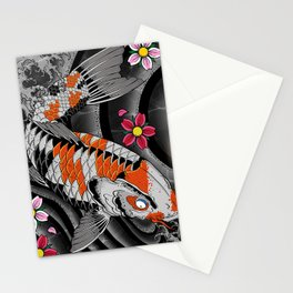 Twin Kois Stationery Cards