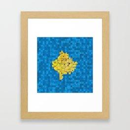 Geometric Kosovo Map Framed Art Print