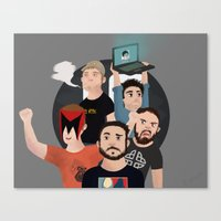 inside gaming Canvas Prints featuring Inside Gaming by Kaguesna