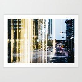 Downtown Reflections Art Print