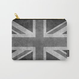 Union Jack Vintage 3:5 Version in grayscale Carry-All Pouch